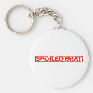 Spoiled Brat Stamp Keychain