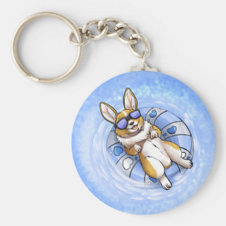 Spoiled Corgi Basic Round Button Keychain