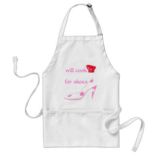 Spoiled High Heel Shoe Lover Cooks for Shoes-pink Standard Apron