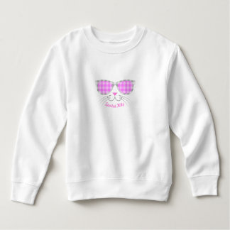 Spoiled Kitty Cat Face in Pink Shades graphic Sweatshirt