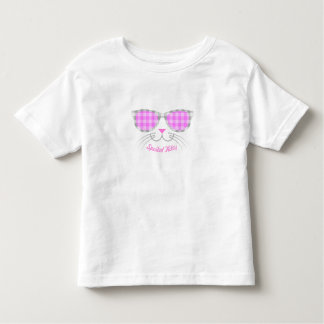 Spoiled Kitty Cat Face in Pink Shades graphic Toddler T-shirt