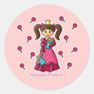 Spoiled Princess Classic Round Sticker
