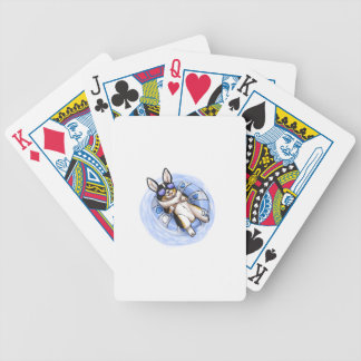 Spoiled Tri Corgi Bicycle Playing Cards