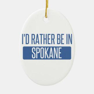 Spokane Ceramic Ornament