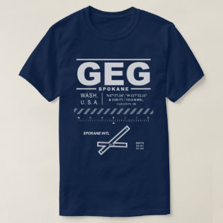 Spokane International Airport GEG Tee Shirt