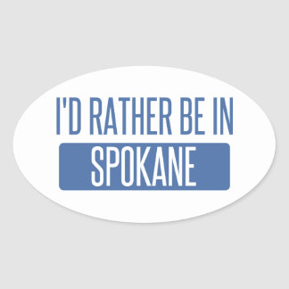 Spokane Oval Sticker