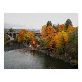 SPOKANE RIVER COLOR POSTER