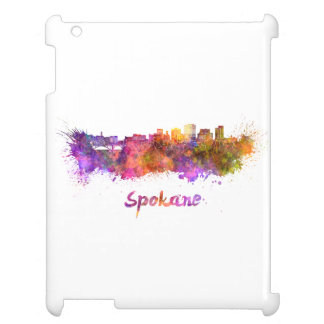 Spokane skyline in watercolor cover for the iPad 2 3 4