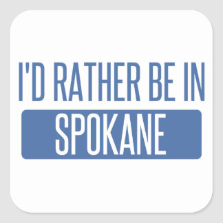 Spokane Square Sticker