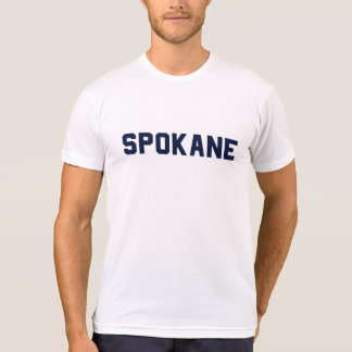 spokane tee: navy on white T-Shirt