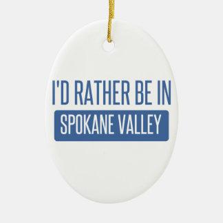 Spokane Valley Ceramic Ornament
