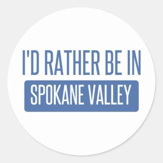 Spokane Valley Round Sticker