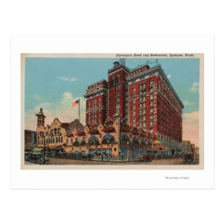 Spokane, WA - View of Davenport Hotel #1 Postcard