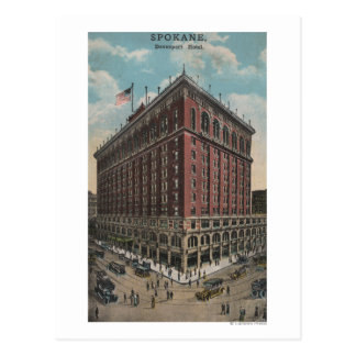 Spokane, WA - View of Davenport Hotel Postcard