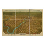 Spokane Washington 1905 Antique Panoramic Map Poster