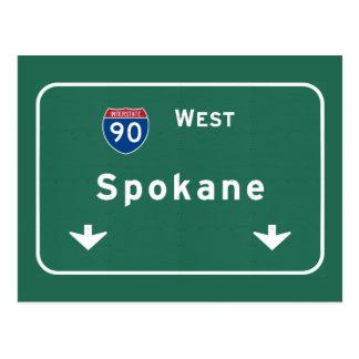 Spokane Washington wa Interstate Highway Freeway : Postcard