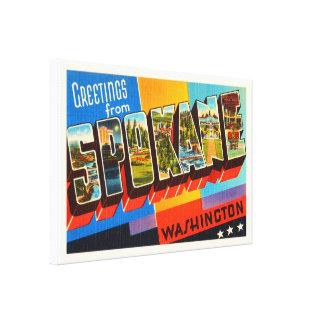 Spokane Washington WA Old Vintage Travel Souvenir Canvas Print