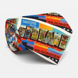 Spokane Washington WA Old Vintage Travel Souvenir Tie