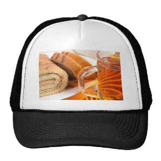 Sponge cake with chocolate filling trucker hat