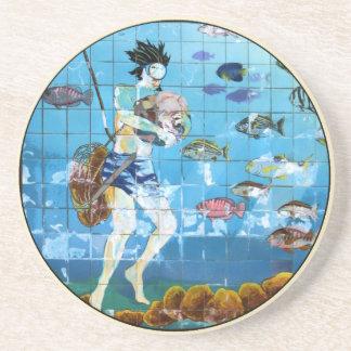 Sponge Diver Mosaic Coaster