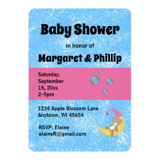 Sponge Painted Baby Shower Card