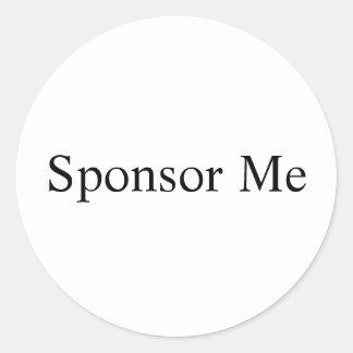 Sponsor Me Classic Round Sticker