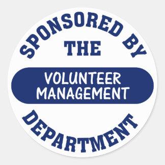 Sponsored by the Volunteer Management Department Round Sticker