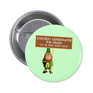 Spoof dyslexic anti Obama 2 Inch Round Button