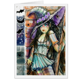 Spooked Witch  Greeting Card