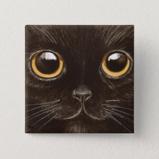 Spookie the Cat 2 Inch Square Button