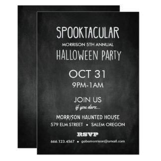 Spooktacular Chalkboard Halloween Party Invitation
