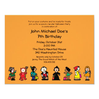 Spooktacular Halloween Birthday Costume Party Card