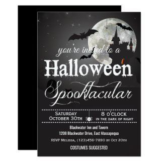 Spooktacular Halloween Costume Party Card