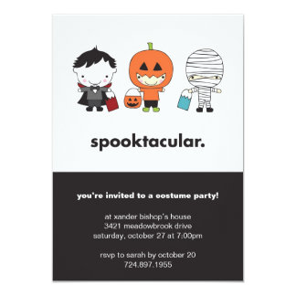 Spooktacular Halloween Costume Party Invitation
