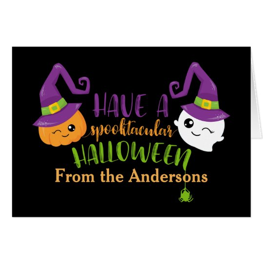 Spooktacular Halloween Custom Personalized Card