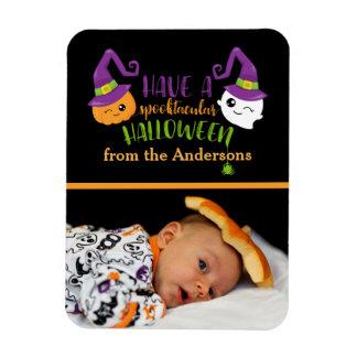 Spooktacular Halloween Custom Personalized Photo Rectangular Photo Magnet