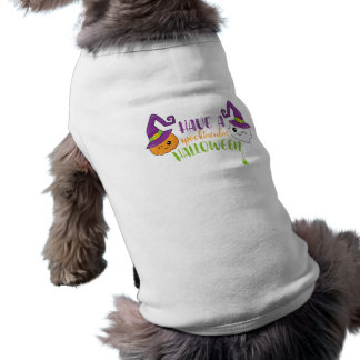 Spooktacular Halloween Ghost & Jack-o-Lantern Dog Tshirt