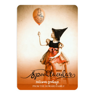 Spooktacular  Halloween Greetings Photo Card