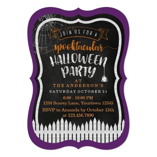 Spooktacular Halloween Modern Party Invitations