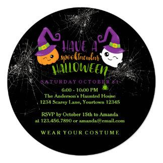 Spooktacular Halloween Party Custom Invitations