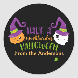 Spooktacular Halloween Party Personalized Favor Classic Round Sticker