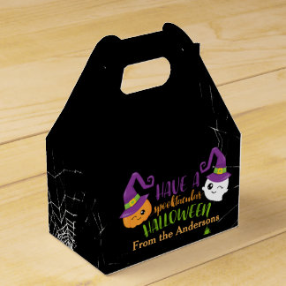 Spooktacular Halloween Party Personalized Favor Favor Box