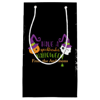 Spooktacular Halloween Party Personalized Favor Small Gift Bag
