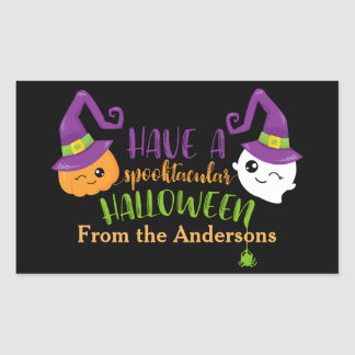 Spooktacular Halloween Party Personalized Favor Sticker
