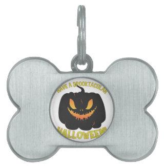 Spooktacular Halloween Pet Name Tag