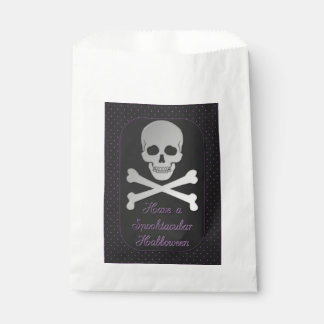 Spooktacular Halloween Skull Favour Bag