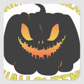 Spooktacular Halloween Square Sticker