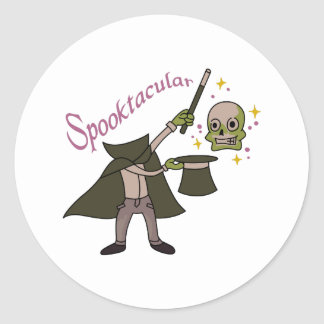 Spooktacular Magic Round Sticker