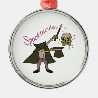 Spooktacular Magic Silver-Colored Round Ornament