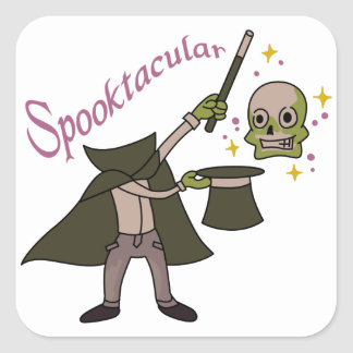 Spooktacular Magic Square Sticker